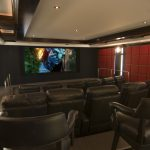 Glorious Home Theater Wall Art Decorating Ideas Contemporary