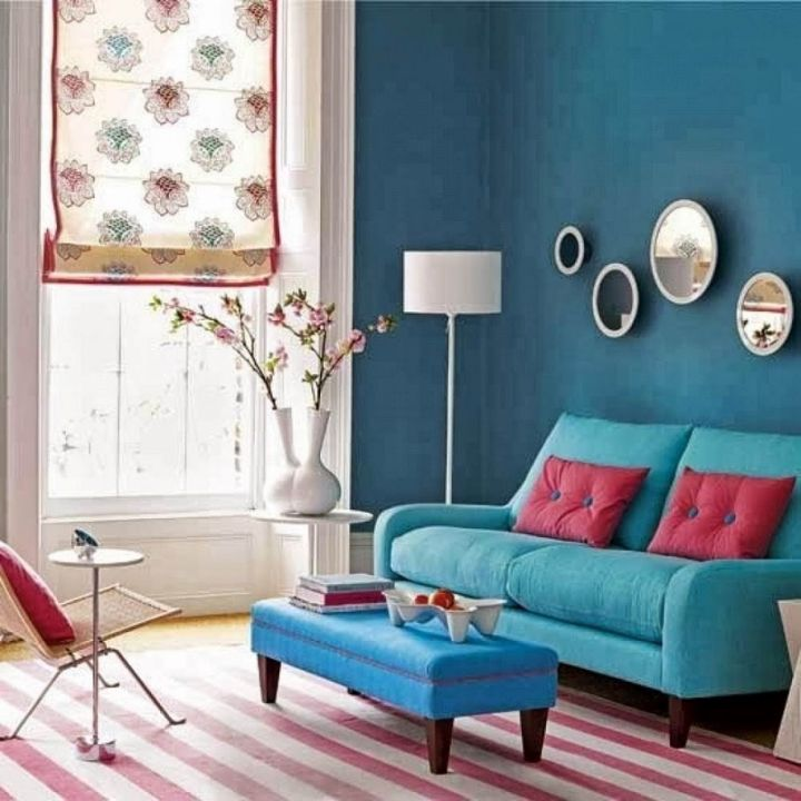 Gorgeous Turquoise Living Room Decorations