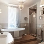 Gray White Traditional Bathroom Interior Design