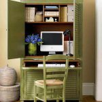 Green Cupboard Home Office Design Ideas Small