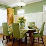 Green Dining Room Colors Accent Actual