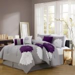 Grey Purple Comforter Bedding