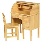Guidecraft Wooden Roll Top Desk Children Secretary Chair