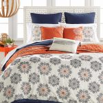 Hallmart Collectibles Marla King Piece Comforter Set Orange Blue Bedding