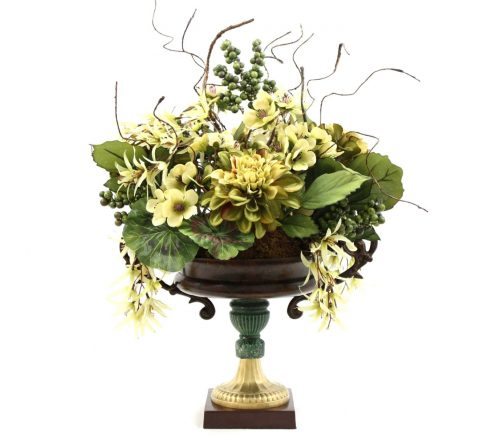 Hand Made Dining Table Centerpiece Silk Flower Arrangement Home Decorating Ideas
