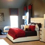 Home Design All One Bed Room Modern Teenage Girls Bedroom Red White Throughout