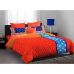 Home Expressions Usa Dark Orange Blue Polka Dotted Double