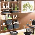 Home Office Wall Shelves Adjustable Design Ideas Interior