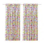 Ikea Barbro Pair Curtains Floral Pattern