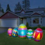 Inflatable Easter Eggs Led Lighted Yard Decorations Lawn Ornament