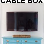 Installing Swivel Mount Hiding Cords Cable Box Own