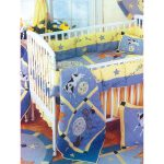 Interior Lovely Baby Nursery Decoration Quilted Crib Bedding Short