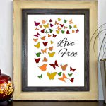 Items Similar Live Printable Wall Decor Butterfly Print Inspirational Quote