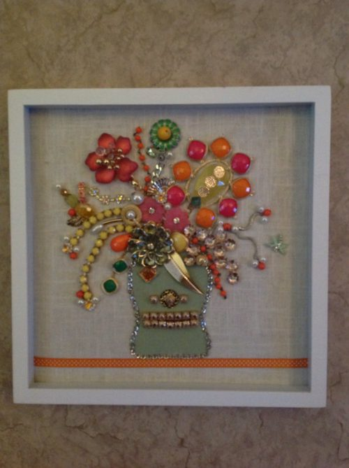 Items Similar Mixed Media Wall Art Bright Colors Coral Lime Orange Yellow