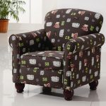 Kids Accent Chair Wingback Storage Plus Wooden Legs