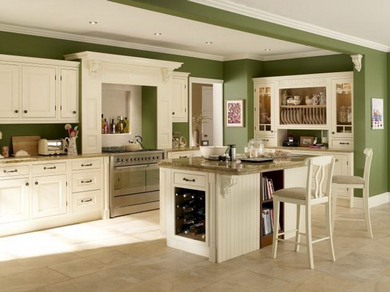 Kitchen Green Cabinets Sage