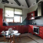 Kitchens Traditional Red Kitchen