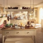 Large Rustic Country Style Kitchen Decoration Old White Wooden Cabinet