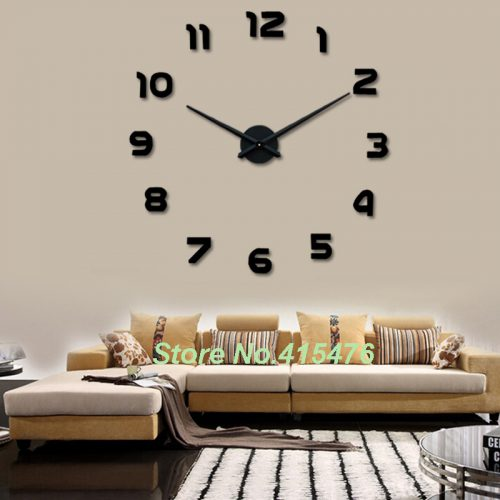 Large Wall Clock Sticker Big Watch Home Decor Unique Gift Diy Hot Sale Trendy Items
