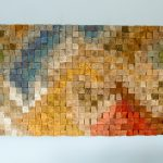 Large Wood Wall Art Sale Colour Trends Geometric