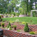 Lawn Garden Terraced Beds Raised Vegetable Bed Plus Exposed Brick