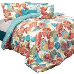 Layla Comforter Orange Blue Piece Set King Comforters Sets Lush