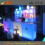 Led Portable Bar Acrylic Nightclub Table Counter Intended Modern Household Furniture