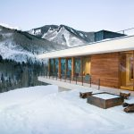 Linear Mountain House Wood Glass Chalet