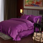 Luxury Deep Purple Egyptian Cotton Bedding Sets Sheets Queen Duvet Cover King Doona