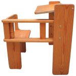 Mid Century Modern Folding Wood Childs Desk Integrated Chair Sale