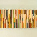 Mid Century Wall Art Reclaimed Wood Sculpture Sale Painted
