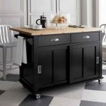 Mobile Kitchen Island Islands Seating Wheels Compact Cart