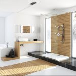 Modern Bathroom Unfinished Wood Interior Design