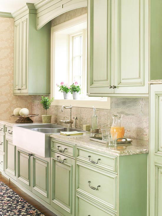 Modern Furniture Green Kitchen Design New