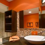 Modern House Orange Bathroom