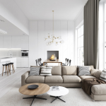 Modern Living Rooms Cool Clean