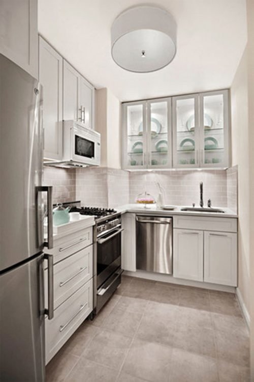Modern Small White Kitchens Decoration