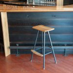 Modern Wood Bar Stool Stauffer Woodworking