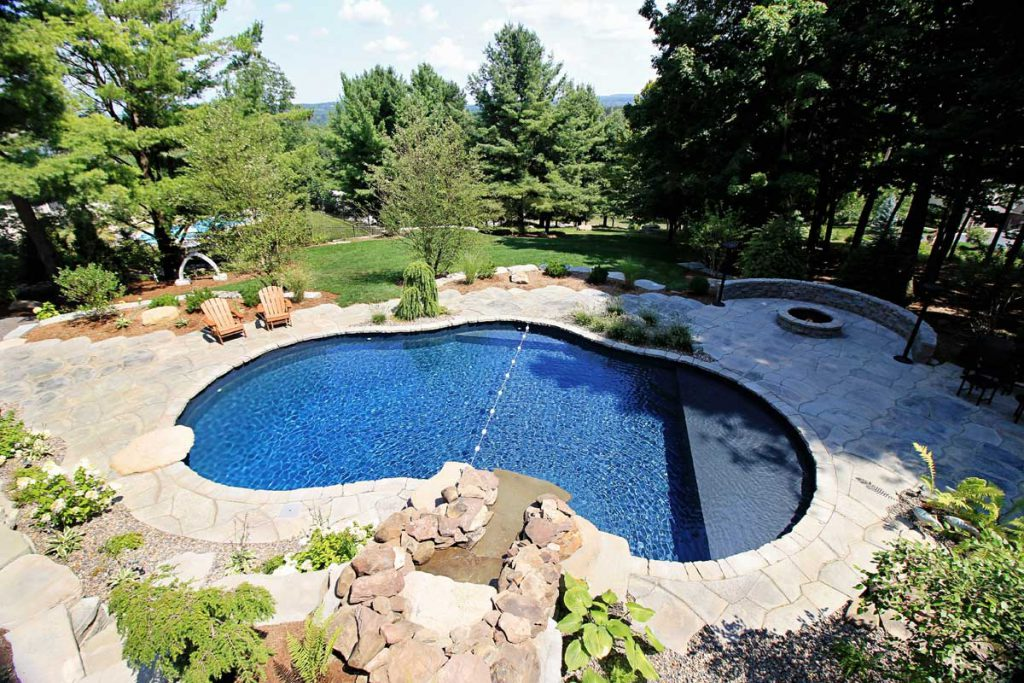 Mountain Pond Shaped Inground Pools Cannon
