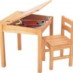 Natural Wooden Desk Chair Kids Children Furniture Storage Study Table New