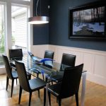 Navy Blue Dining Room Combine White Paint Ideas Home Interior