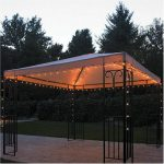 New Lights Gazebo Fairy String Romantic Garden Outdoors Canopy Patio
