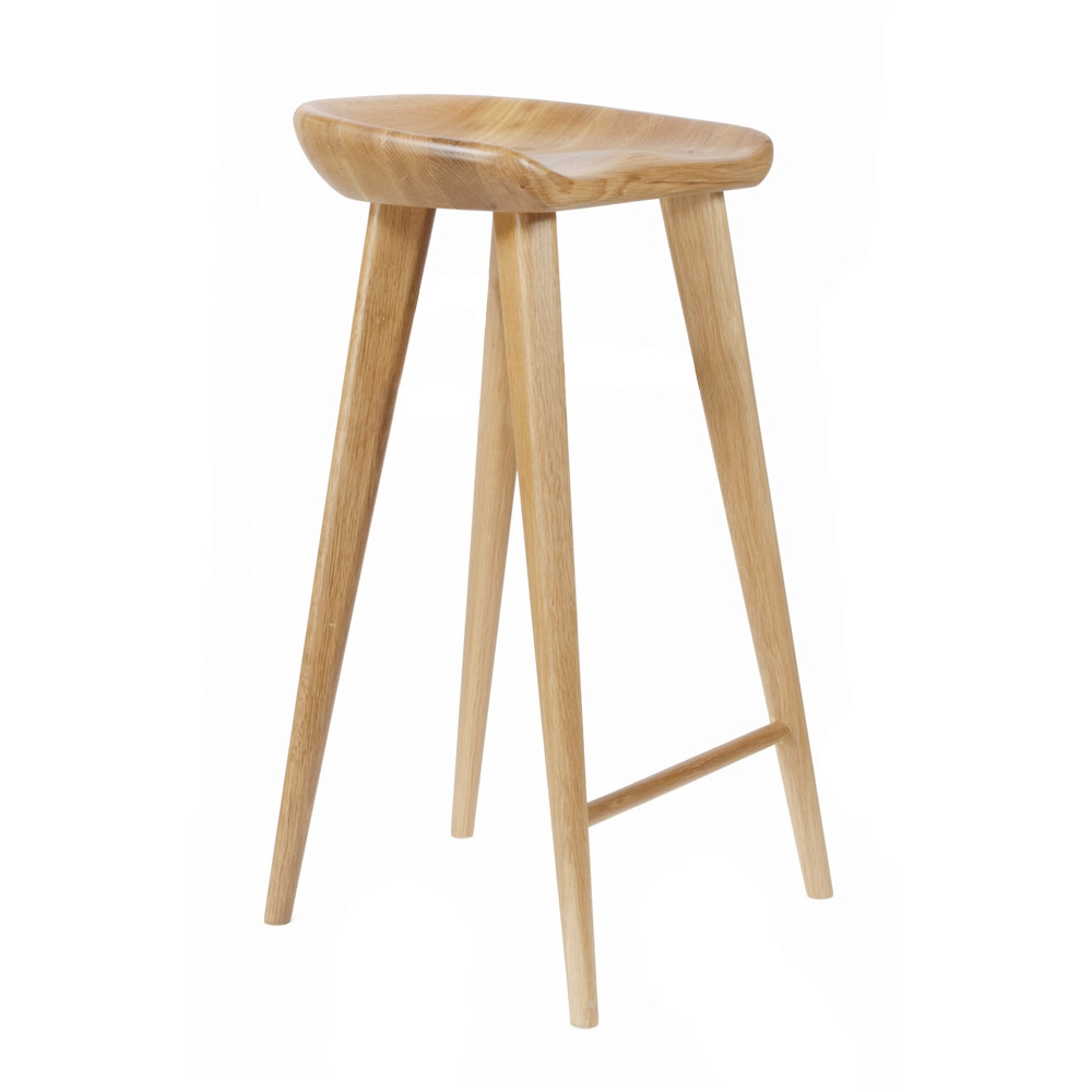 New Modern Carved Wood Barstool Contemporary Bar Counter Tractor Stool
