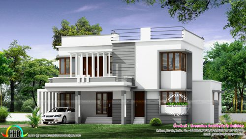 New Modern House Architecture Kerala Home Design Floor