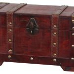 New Vintiquewise Antique Style Wooden Small Decorative Trunk