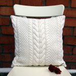Off White Cable Knit Pillow Cover