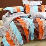Orange Blue Bedding Pink Contemporary Floral Schlossberg