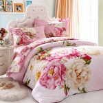 Oriental Style Classical Floral Chinese Peony Bedding Set King Queen Cotton