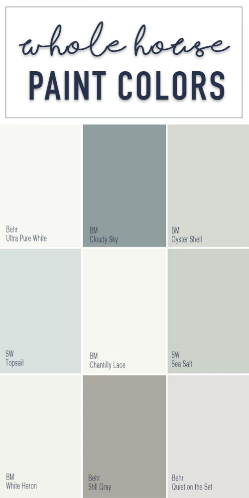 Paint Colors Whole Home Color Palette Calming