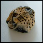 Painted Rocks Animals Tiger Face